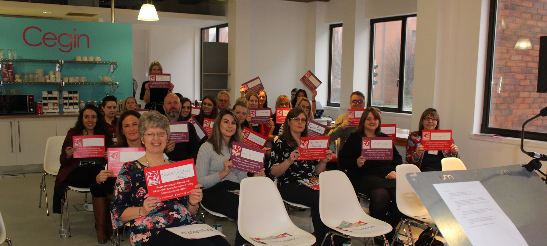 Local businesses pledge their support to Llamau ahead of International Women's Day