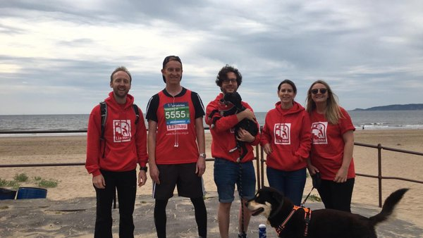 Team Llamau at Swansea Half 2019